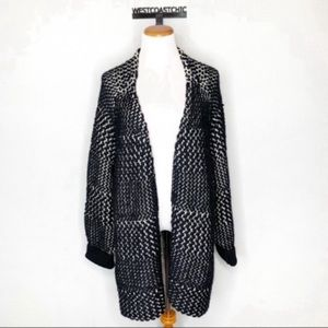 H&M Oversized Chunky Knit Open Front Sweater Coat
